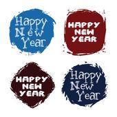 Mutlu yeni yıl tasarım — Stok Vektör