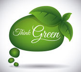 Think green design  — Stock Vector