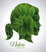Think green design — Stock Vector