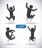 Jump design  — Stock Vector