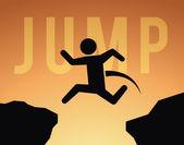 Saltar projeto — Vetor de Stock