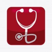 Stethoscope design  — Stok Vektör