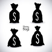 Money bag design  — Stock Vector