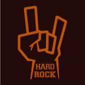Hard rock design — Stock Vector