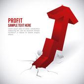 Profit design  — Vetor de Stock