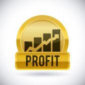 Profit design  — Stock Vector