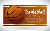 Progettazione di basket — Vettoriale Stock