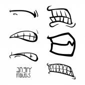 Mouth design  — Stock Vector