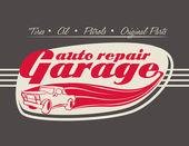 Garage design  — Vector de stock