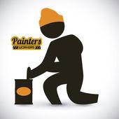 Painters design  — Stock Vector