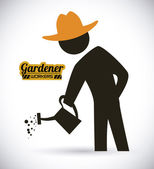 Gardener design  — Stock Vector