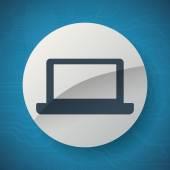 Icono del ordenador portátil — Vector de stock