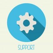 Icono de apoyo — Vector de stock