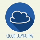 Computación en la nube — Vector de stock