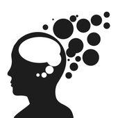 Human profile  — Stock Vector