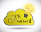 Pensar diferente — Vector de stock