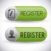 Register button design  — Stock Vector