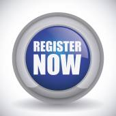 Register button design  — Stok Vektör