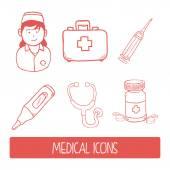 Nurse woman  — Stock vektor