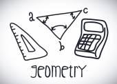 Geometry drawn — Stock Vector