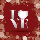Liebe poster — Stockvektor