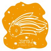 Asteroid drawn  — Vetor de Stock