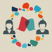 Speech bubbles communication — Stockvektor