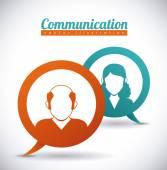Speech bubbles communication — Stock Vector