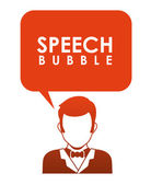 Comunicación de burbujas de discurso — Vector de stock