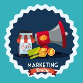 Marketing online  — Vector de stock