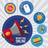 Marketing online  — Stockvektor