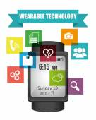 Wearable technology — Vector de stock