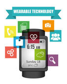 Wearable technologie — Stockvector