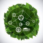 Eco sustainibility — Stock Vector