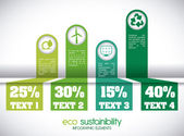 Eco sustainibility — Stock Vector