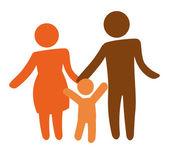 Family silhouette — Stock Vector