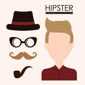 Stile hipster — Vettoriale Stock