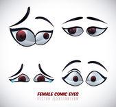 目のアイコン — ストックベクタ