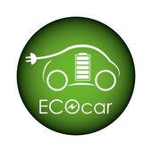 Eco auto — Vettoriale Stock