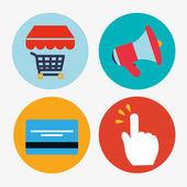 Shopping design, vector illustration. — Vector de stock