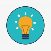 Bulb design, vector illustration. — Stock Vector