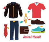 Sales and retail  — Stock Vector