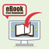 EBook design, vector illustration. — Stock Vector