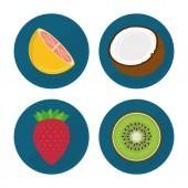 Meyve tasarım, vektör çizim. — Stok Vektör