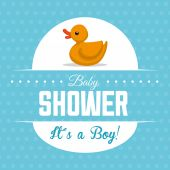 Baby shower design, vector illustration. — 图库矢量图片