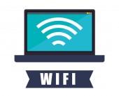 Wi-fi design, vektor illustration. — Stockvektor