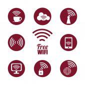 Wi-fi design, vector illustration. — Stockvector