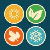 Weather concept design, vector illustration. — Stockvektor