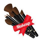 Ontwerp, vectorillustratie make-up. — Stockvector