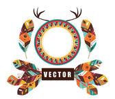 Feather design, vector illustration. — Stock Vector
